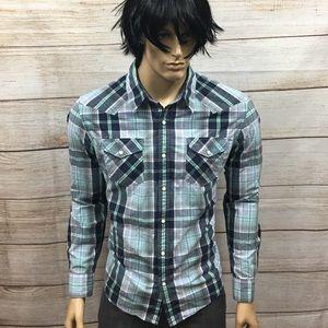 Men's American Eagle Vintage Fit Pearl Shirt Sz XL
